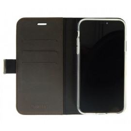 Valenta Booklet Classic Luxe - Étui iPhone 11 portefeuille - Marron foncé