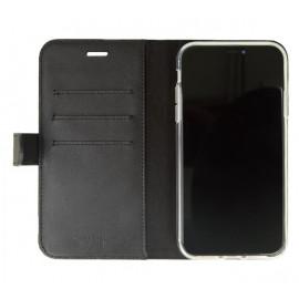 Valenta Booklet Classic Luxe - Étui iPhone 11 portefeuille - Noir