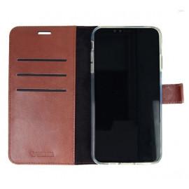 Valenta Booklet Gel Skin En cuir - Étui iPhone 11 Pro Portefeuille - Marron