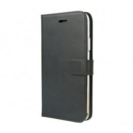 Valenta Booklet Gel Skin En cuir - Étui iPhone 11 Portefeuille - Noir